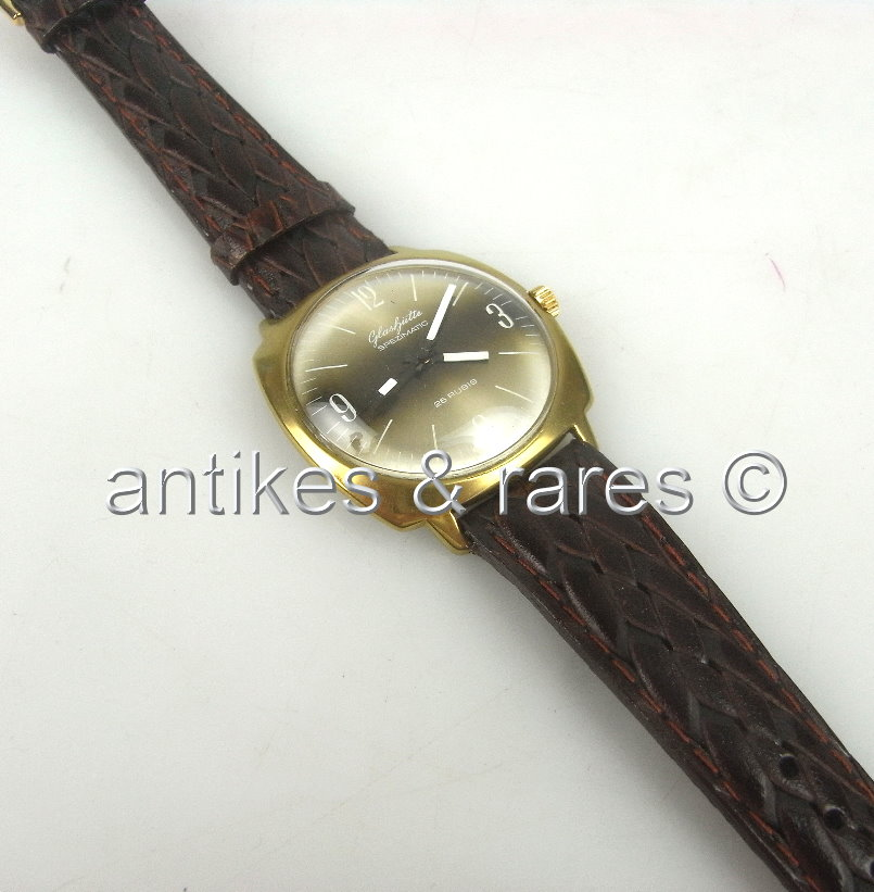 Original Glashütte Spezimatic Mens Wristwatch 26 Rubis
